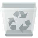 trashcan, Empty Silver icon