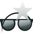 sunglasses, star, Glasses Black icon