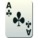Cards, poker Gainsboro icon