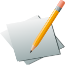 editor, pencil, paper, Edit, write Silver icon