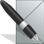 mail, Pen, post, postcard Silver icon