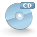 mount, Cdrom LightBlue icon