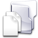Folder, documents Black icon