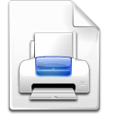 printer, File Snow icon