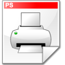 printer, File, Postscript WhiteSmoke icon