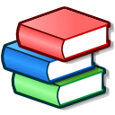 school, Books, Bookcase Salmon icon