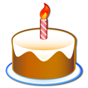 party, 60 jears, birthday, cake Black icon