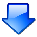 download, Down, Arrow, Blue Black icon