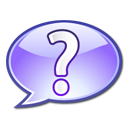 support, help, question mark Lavender icon