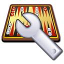 engine, spanner, Backgammon Black icon