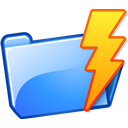 power, lightning, Folder Black icon
