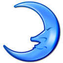 Moon, night Black icon