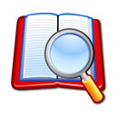 search, Book, zoom Lavender icon
