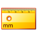 measure, ruler Gold icon