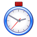 Ktimer, stopwatch, Clock, timer Black icon