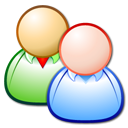 friends, persons, group, people, forum, Users, Client Black icon