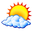 weather, sun, Cloud Black icon