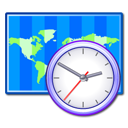 Clock, time zone, world DodgerBlue icon