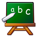 Edutainment, learn, package, Abc, chalkboard, school DarkGreen icon