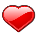 bookmark, Heart, love, Favorite Red icon