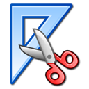 scissors, triangle, ruler, Design, measure Icon