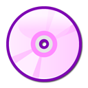 Dvd, disc, Cd, pink LavenderBlush icon