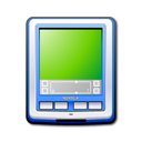 Blue, palm, pda YellowGreen icon
