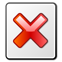 x, File, Broken WhiteSmoke icon
