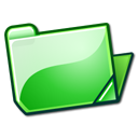 Folder, open, green LimeGreen icon