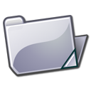 open, Folder, grey Icon