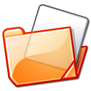 Folder, Orange Black icon