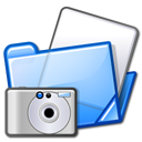 Folder, photo Black icon