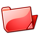 red, open, Folder Tomato icon