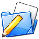 Folder, Pen, write Black icon