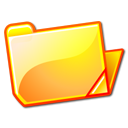 yellow, open, Folder SandyBrown icon
