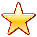 Favorite, bookmark, star Black icon