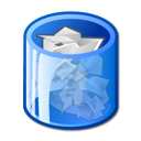 Full, trashcan CornflowerBlue icon