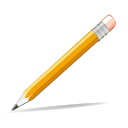 Edit, write, pencil Orange icon