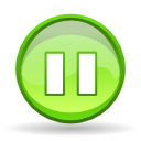 player, Pause GreenYellow icon