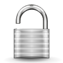 Unlock, security LightGray icon