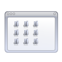 window, Folders WhiteSmoke icon