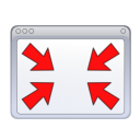 windows, Nofullscreen WhiteSmoke icon
