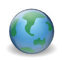 earth, internet, world, Browser CornflowerBlue icon
