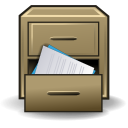 Cabinet, File, Drawer, office, message collection DarkKhaki icon