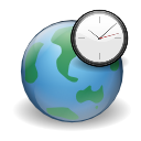 internet, earth, world, globe, Clock Black icon