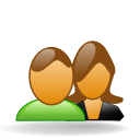 Female, Users, forum, male SaddleBrown icon