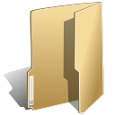 Folder, open BurlyWood icon