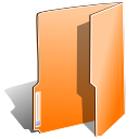 open, Orange, Close, Folder DarkOrange icon