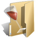 Folder, wine, Alcohol DarkKhaki icon
