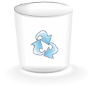 Empty-alt, trashcan DarkGray icon